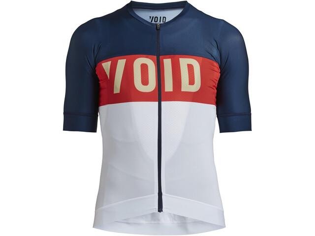 VOID Fusion Koszulka z krótkim rękawem Mężczyźni, niebieski/biały
